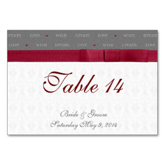 Wish Dream Love Table Cards