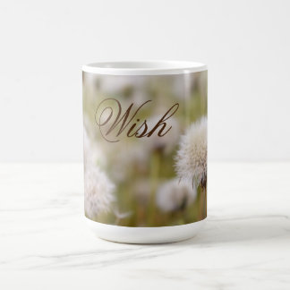 """Wish"" Fluffy Dandelion Field Coffee Mug"