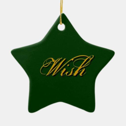 Wish - Green Ornament