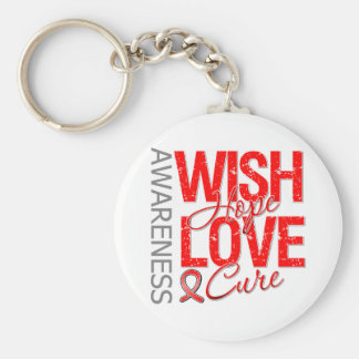 Wish Hope Love Cure AIDS HIV Basic Round Button Key Ring