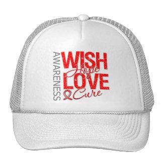 Wish Hope Love Cure AIDS HIV Cap