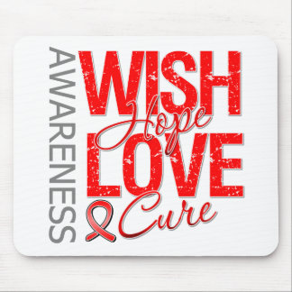 Wish Hope Love Cure AIDS HIV Mouse Pads