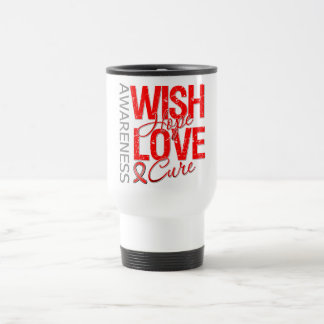 Wish Hope Love Cure AIDS HIV Stainless Steel Travel Mug