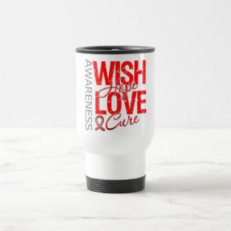 Wish Hope Love Cure AIDS HIV Stainless Steel Travel Mug