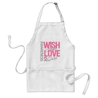 Wish Hope Love Cure Breast Cancer Aprons