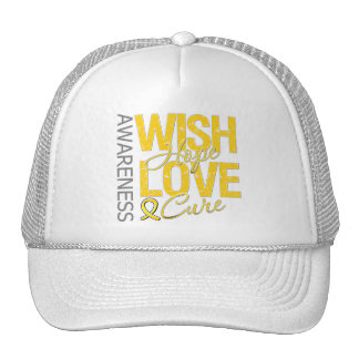 Wish Hope Love Cure Childhood Cancer Hats