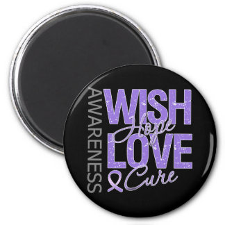 Wish Hope Love Cure Hodgkin's Lymphoma 6 Cm Round Magnet