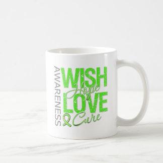 Wish Hope Love Cure Lyme Disease Basic White Mug
