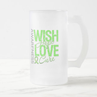 Wish Hope Love Cure Lyme Disease Frosted Glass Mug