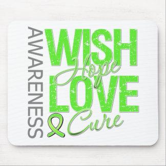 Wish Hope Love Cure Lyme Disease Mousepad