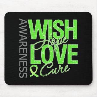 Wish Hope Love Cure Lyme Disease Mousepads
