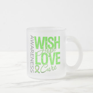 Wish Hope Love Cure Lyme Disease 10 Oz Frosted Glass Coffee Mug