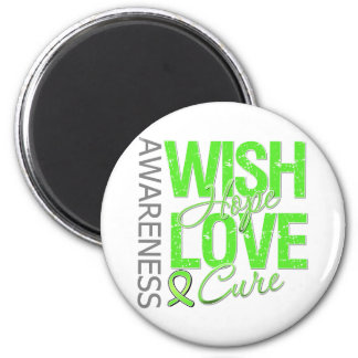 Wish Hope Love Cure Non-Hodgkin's Lymphoma 6 Cm Round Magnet
