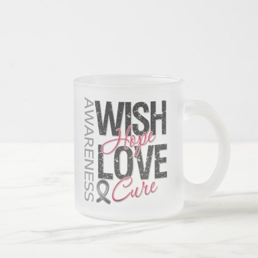 Wish Hope Love Cure Skin Cancer Coffee Mugs