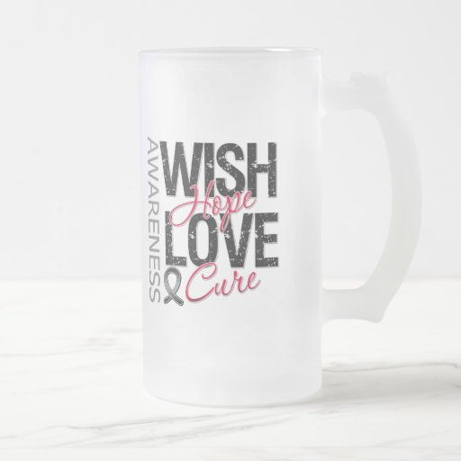 Wish Hope Love Cure Skin Cancer Mug