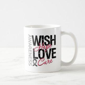 Wish Hope Love Cure Skin Cancer Coffee Mugs