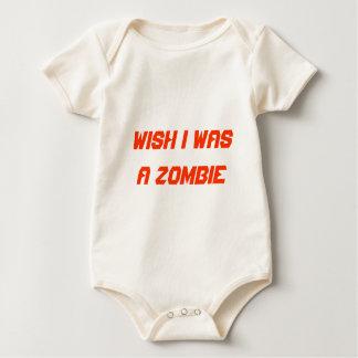 Wish I was a Zombie Baby Bodysuit