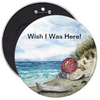 Wish I Was Here Large Button