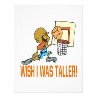 Wish I Was Taller 21.5 Cm X 28 Cm Flyer