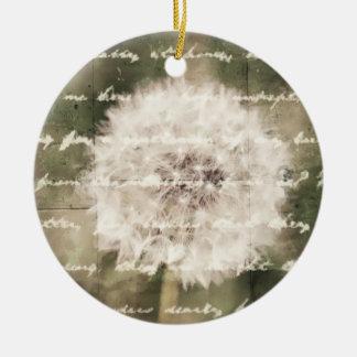 Wish Inspiration Dandelion Round Ceramic Decoration