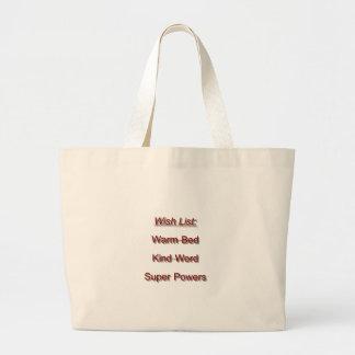Wish List Jumbo Tote Bag