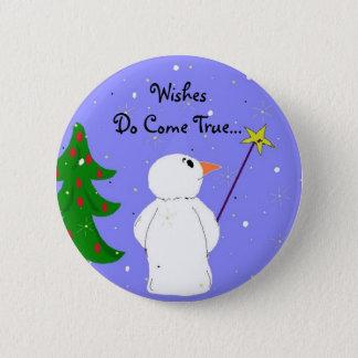 Wish Maker Snowman 6 Cm Round Badge