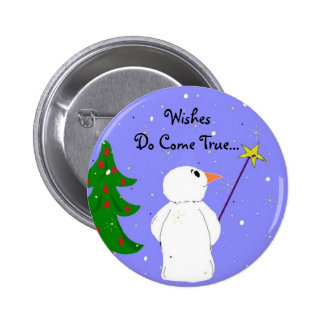 Wish Maker Snowman 6 Cm Round Badge
