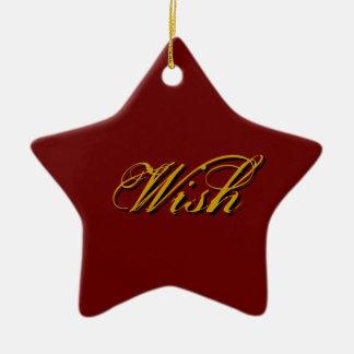 Wish - Red Ceramic Star Decoration
