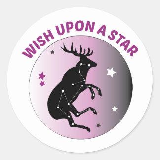 Wish Upon Star Round Sticker