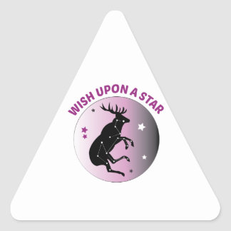 Wish Upon Star Triangle Sticker