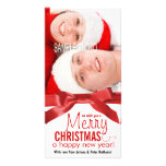 Wish You a Merry Christmas Holiday Couple Photo Customized Photo Card