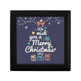 Wish you a Merry Christmas Small Square Gift Box