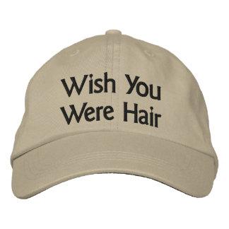 Wish You Were Hair Baseball Cap