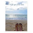 Wish You Were Here Beach Postcard