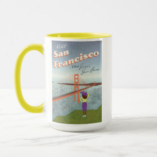"""Wish You Were Here"" Golden Gate Bridge Mug"