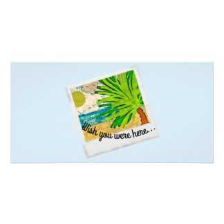 Wish you were here picture photo card