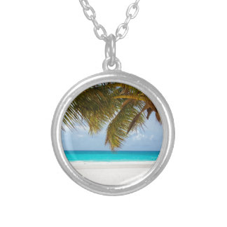 Wish you were here! silver plated necklace
