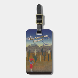 """""""Wish You Were Here"""" Sonoran Desert Luggage Tag"""