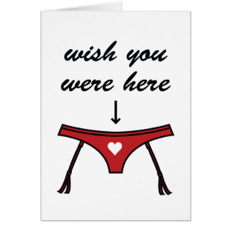 Wish You Were Here Valentine s Card
