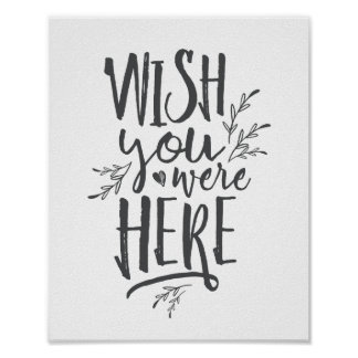 Wish you were here Wedding Memorial Table Sign GR