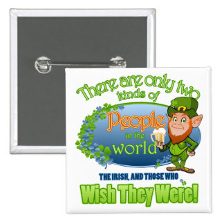Wish You Were Irish (Ver 2) 15 Cm Square Badge