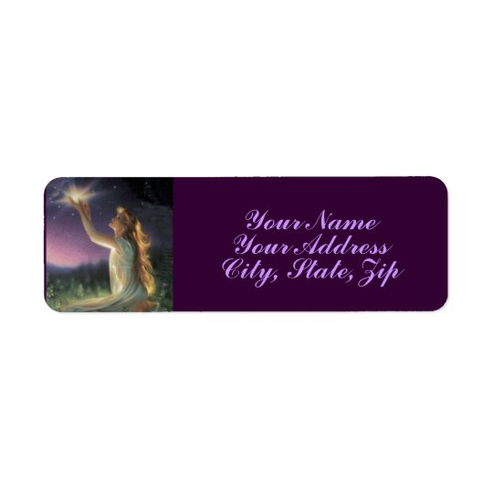 Wishes Amongst the Stars Return Address Label