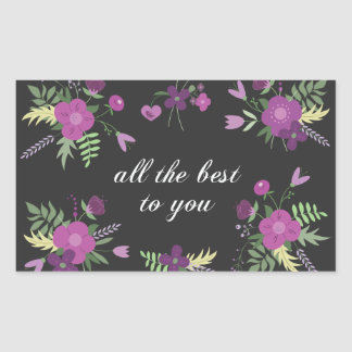 Wishes, best you rectangular sticker