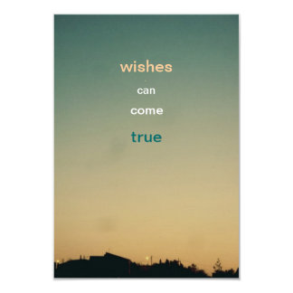 wishes can come true wish card 9 cm x 13 cm invitation card