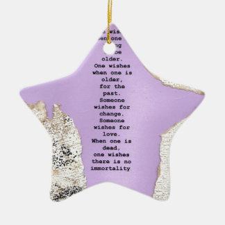 wishes ceramic star decoration