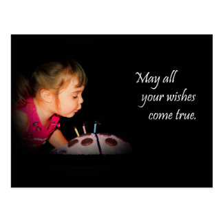 Wishes Come True Greeting Postcard - Customizable