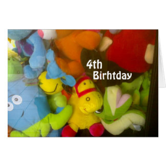 """WISHES FOR A FUN """"4th BIRTHDAY"""" Greeting Card"""