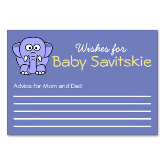 Wishes for Baby Advice Card Table Card