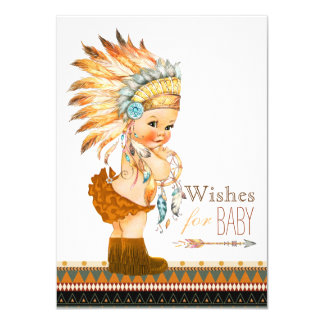 Wishes for Baby Wild and Free Baby Shower 11 Cm X 16 Cm Invitation Card