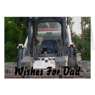 Wishes for Dad Cat Not Included Card